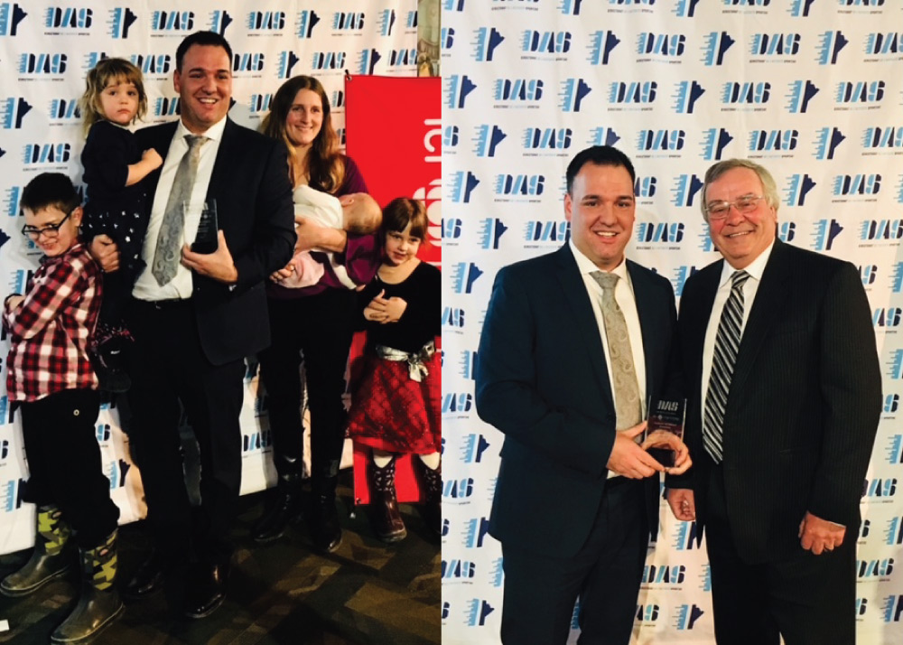 Rob Tetrault Receives the Excellence Award in the Visionary Category Given by DAS and ICI Radio-Canada Manitoba - 2018