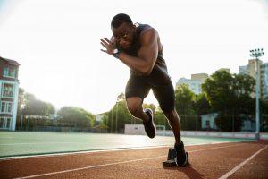 Financial advisor for athletes image of sprinter running